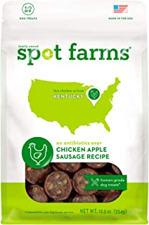 Spot Farms All Natural Human Grade Dog Treats, Chicken Apple Sausage