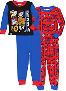Star Wars Glow in The Dark Boys 2fer 4 Piece Cotton Pajamas Set