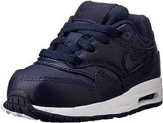 Nike Air Max 1 (TD) Baby Boys Sneakers, Obsidian/Obsidian-White, 7 US