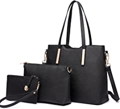 Miss Lulu Women Handbag Purse Set Top Handle Tote Shoulder Bag Pu Leather Crossbody Satchel 3 Pieces
