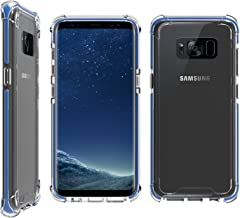 Bear Motion for Galaxy S8 Plus - Shockproof Premium Fusion Bumper Case with Transparent Back Combo Case for Galaxy S8 Plus (Blue Trim)