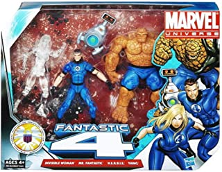 Hasbro Marvel Universe 3 3/4 Inch Action Figure 3Pack Fantastic Four with Clear Invi