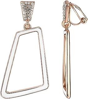 Clip on Earrings For Women Mental 18K Rose/White Gold Plated Non Pierced Ears