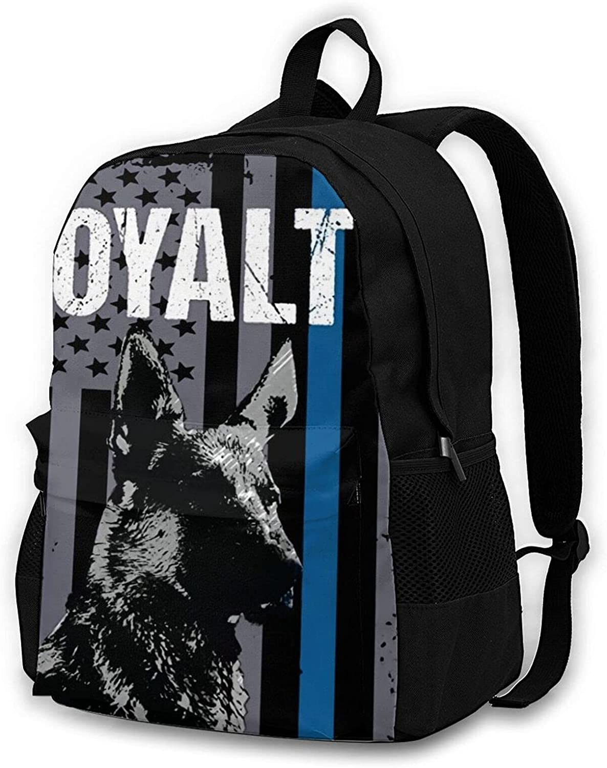 Laptop Backpack New color Police At the price of surprise K9 Unit Dog Line Thin Blue Loyalty Flag L