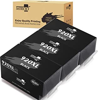 MIROO Compatible Ink Cartridge Replacement for HP 920xl High Capacity(Black,3-Pack),Compatible with HP Officejet 6500 6000 7000 7500 7500A 6500A E709 Printer
