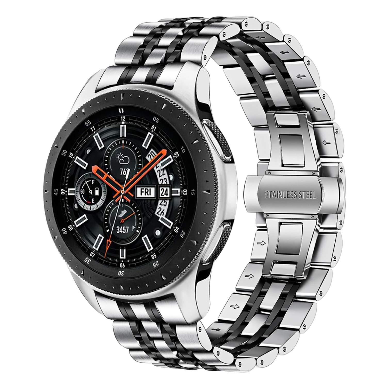 TRUMiRR Compatible con Galaxy Watch 46mm Correa de Reloj de Metal, 22mm Correa de Reloj de Metal de Acero Inoxidable Banda de Repuesto para Samsung Galaxy Watch 46mm/Gear S3 Frontier Classic: Amazon.es: