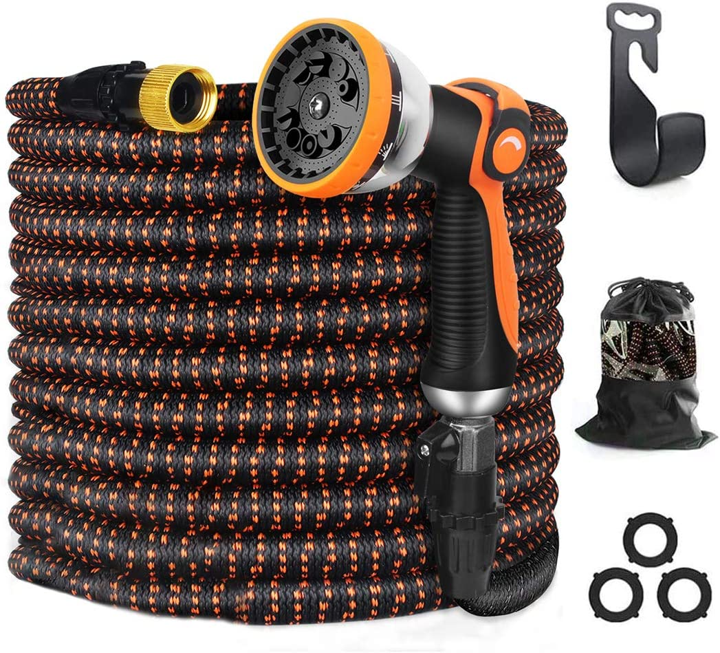 Debolic 100ft New Expandable Garden Hose - Superior Strength 3750D, 4-Layers Latex with 3/4