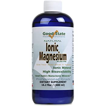 Good State | Ionic Magnesium 16 oz.| Natural | Nano Sized Mineral Technology | Professional Grade | Supports Healthy Chemical & Enzymes Reactions | 192 Servings at 100 mg per serving | 16 Fl oz Bottle