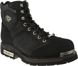HARLEY-DAVIDSON Erkek Clement Black Crazy Deri Moda Ayakkabılar