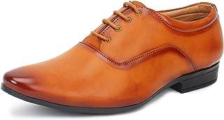 BUWCH Men's Tan Formal Shoes-9 UK (43 1/3 EU) 66_TAN9