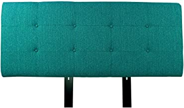 product image for MJL Furniture Designs Ali Collection Olivia Series Upholstered, Tufted and Padded Queen Size Headboard Contemporary Styled Bedroom Décor, Queen Size, Teal