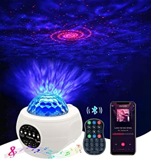 Becailyer Galaxy Star Projector Night Light with 21 Lighting Modes with Remote Control& Built-in Music Player Ocean Wave S...