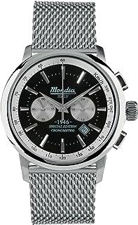 Mondia Italy 1946 crono Mens Analog Japanese Quartz Watch with Stainless Steel Bracelet MI744-1BM