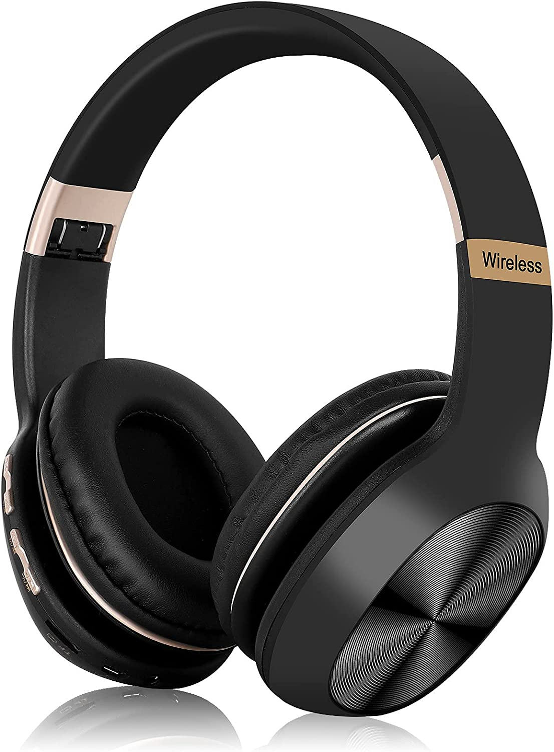 UrbanX Perfect Comfort 955 II Overhead Wireless Bluetooth Headphones for Infinix Hot 10T Noise-Cancelling, with – Black