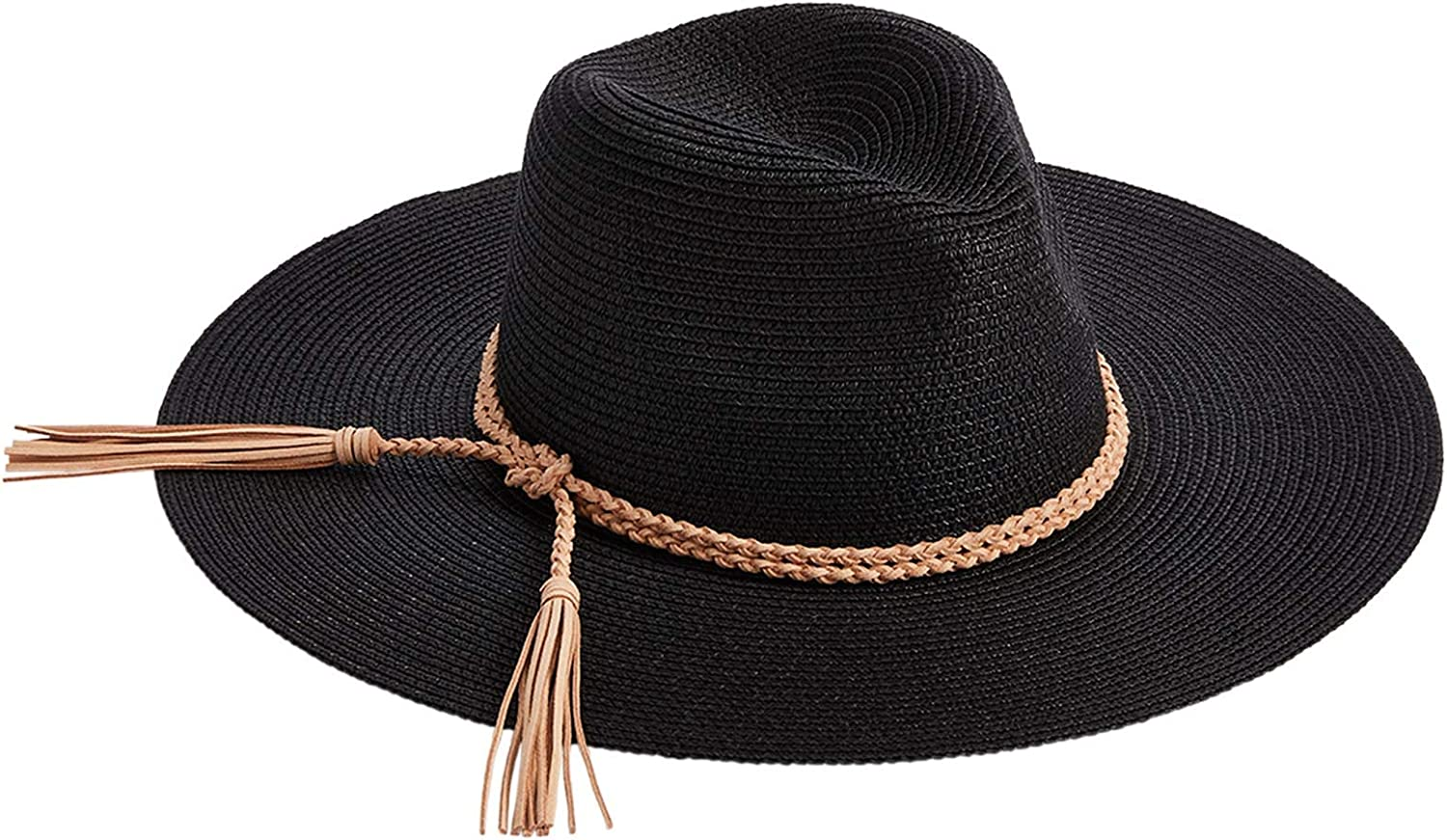 Mud Pie Women's Braided Fedora 2021new shipping Free shipping anywhere in the nation free Tassel