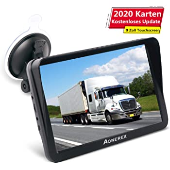Aonerex - Navegador GPS para coche, camión, coche, 9 pulgadas, con parasol, guía de voz, asistente de carril, mapas de Europa, actualizaciones de mapas de por vida: Amazon.es: Electrónica