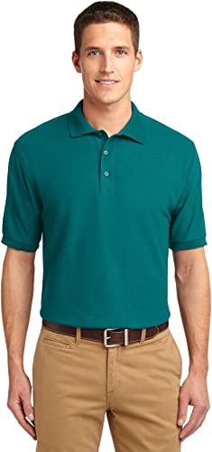 Port Authority Extended Taille Silk Touch Polo. K500ES Teal vert 10XL