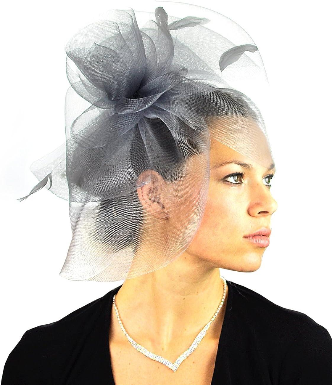 NYFASHION101 Elegant Formal Curlicue Center Sinamay Fascinator Headband