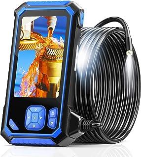 Industrie Endoskop, SKYBASIC 1080P HD Digitale Endoskop Inspektionskamera Wasserdichte 4,3 Zoll LCD Schlangenkamera mit 6 einstellbaren LED Leuchten, halbstarrem Kabel, 32GB TF und Werkzeug (16,5 Fuß)
