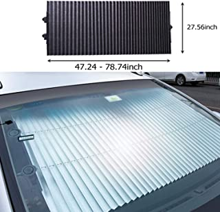 Festnight Car Window Shade Front Side Window Sun Shade Cover Full Windows Universal Car Shade Mesh Mosquito Net Car Curtains 2 Pack