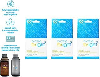Bottle Bright - All Natural, Water Bottle & Reservoir Cleaning Tablets - Removes Tough Stains and Odors - Perfect for Steel Bottles, Coffee Mugs, & Hydration Bladders