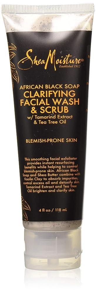 Shea Moisture African Black Soap Problem Facial Wash & Scrub, 4 Ounce