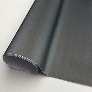 new Brushed Metallic Vinyl Car Wraps Film Foil Car Wrapping Film Bubble Free Bike Console Computer Laptop Skin Phone Cover...