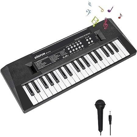 Piano Electronicos para Niños, 37 Teclas Teclado Electrónico Piano Musical Mini Portátil Teclado Digital con Micrófono y Conector de Alimentación, ...