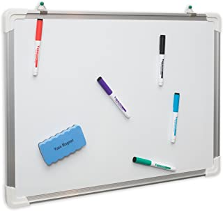Dry Erase White Board: Hanging Writing, Drawing & Planning Large Whiteboard for Cubicle | 24X18