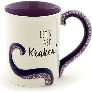 "Enesco 6000550 Our Our Name Is Mud ""Kraken"" Stoneware Sculpted Coffee Mug, 16 oz, Purple"