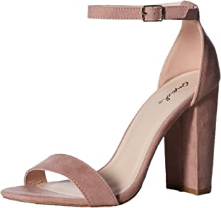 Qupid Women's Single Sole Sandal Heeled