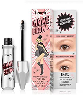 Benefit Gimme Brow+ Volumizing Fiber Gel, 4 Medium Warm Deep Brown, 1 Count