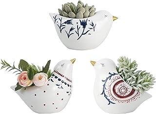 Vellarr Set of 3 Ceramic Animal Succulent Planter