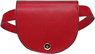 Daksha Half Moon Fanny Pack Belt Women's Fashion Outdoor Travel Sports Mini Waist Cell Phone Pocket Bag by Mia K Farrow