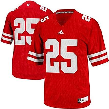 Wisconsin Badgers Kids Replica Football Jersey - Red #25 ,