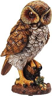 Battery Operated Light Up Hooting Garden Owl Pest Deterrent