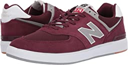 Burgundy/Grey Suede