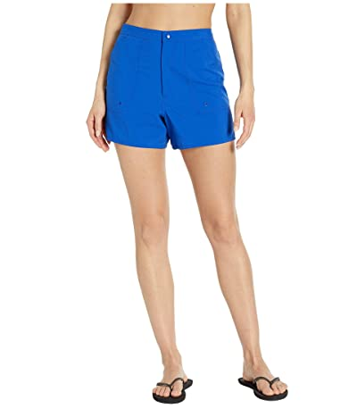 Maxine of Hollywood Swimwear Solids Woven Boardshorts (Cobalt) Women