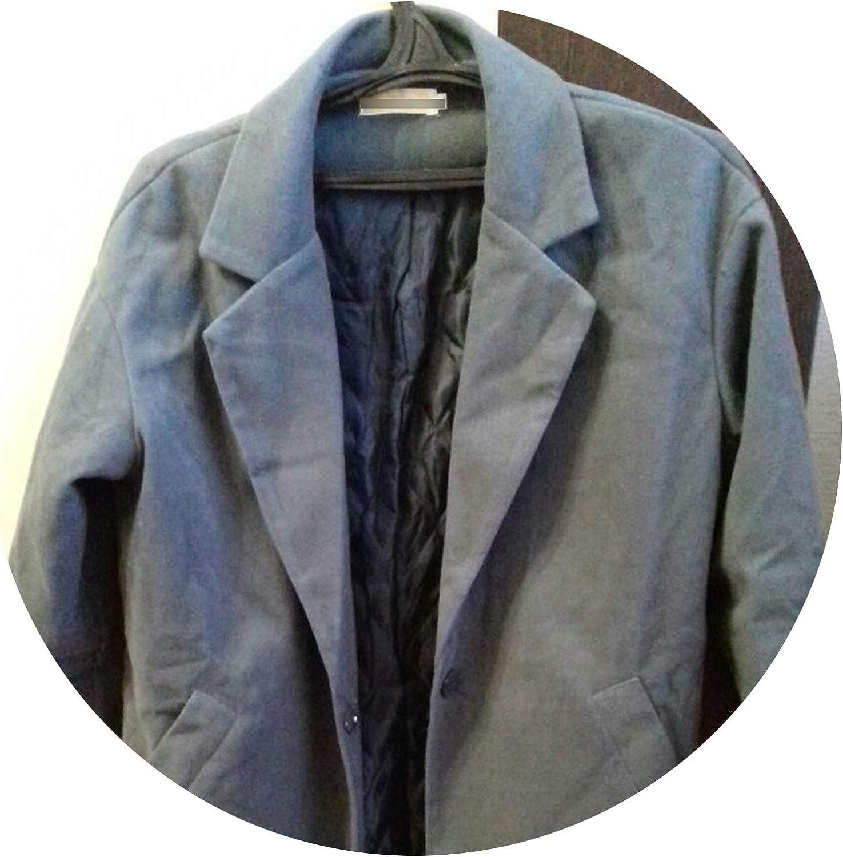 Coat Women Coat Female Overcoat Female Spring Slim Blend Alpaca Woolen Coat Woolen Outerwear