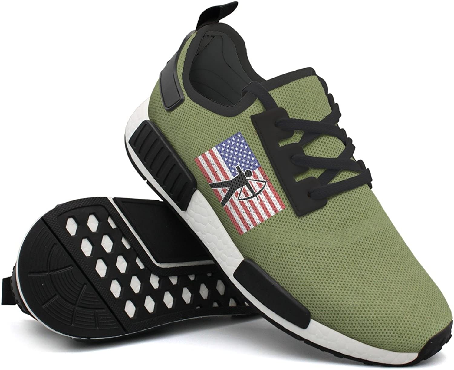 American Flag & Archery Young Men Comfortable Unique Casual Running shoes Top Man's