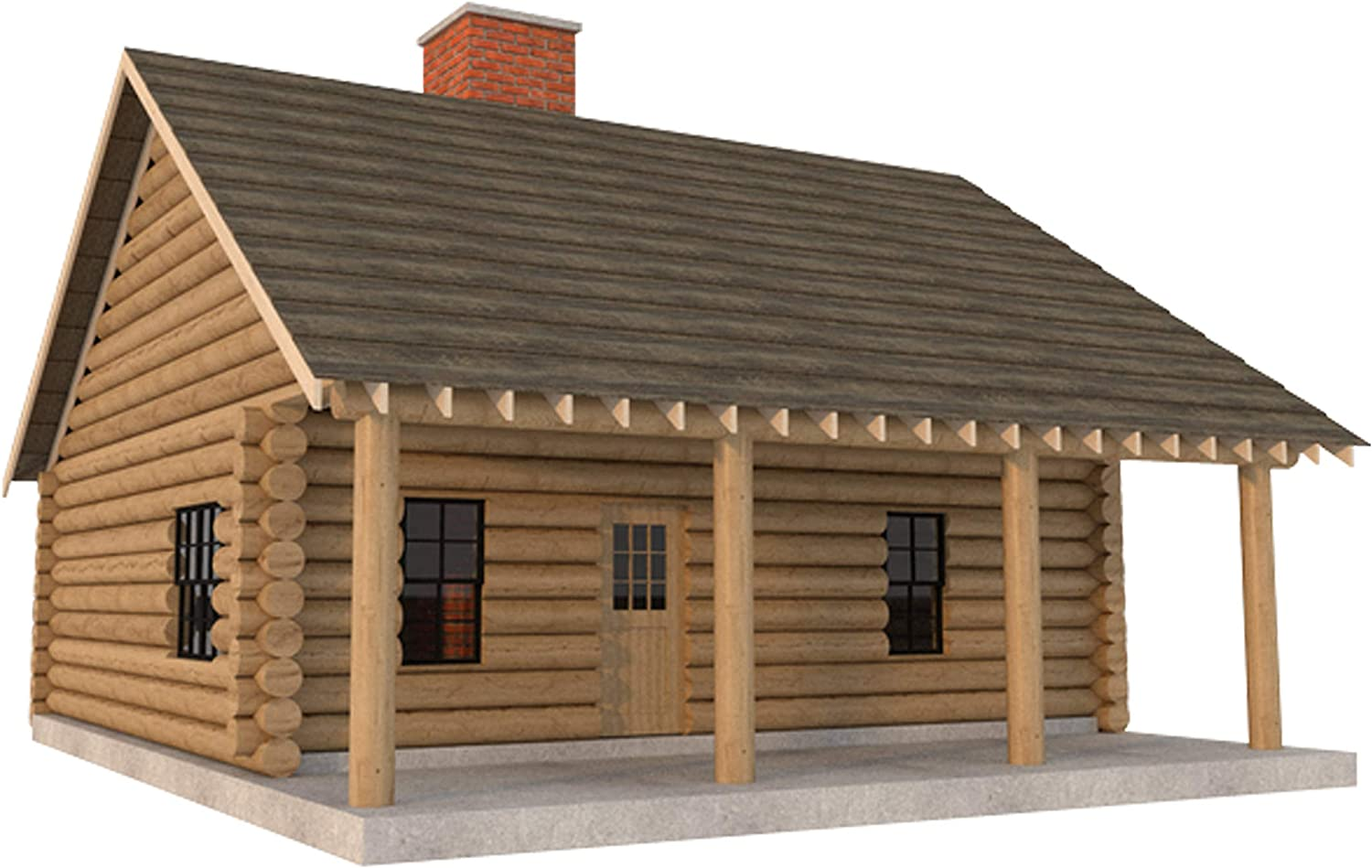 IE Luxury Log Cabin Cheap super special price House Plans DIY 2 Bu Home sqft Vacation 840 Bedroom
