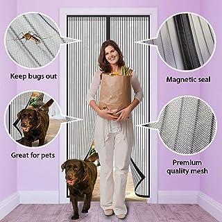 ARVO Puerta de mosquitera mosquitera magnética, la Cortina de Malla de Malla se Adapta a Puertas de hasta 90 cm x 210 cm / 35,4