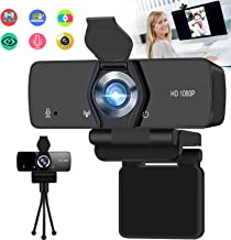 Burxoe Webcam,1080P Hd Web Camera with Microphone for Desktop Computer Laptop, Pc USB Camera Streaming 110-Degree Wide Ang...
