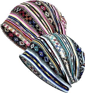 WELROG Chemo Hat Women Hat Lace Headscarf Super Soft Slouchy Turban Headwear Head Wraps