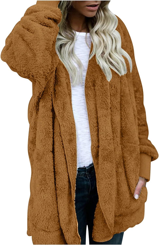 Women's Winter gift Solid Color Plush Cardigan Warm Fur Faux Reversib Special sale item