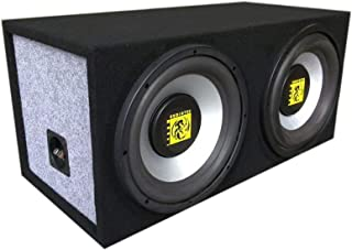 "$109 » Sponsored Ad - Audiotek AT-208WS Dual 8"" 800 Watts Max Power Band Pass Vented Dual Sealed Vehicle Subwoofer Box Loaded wit..."