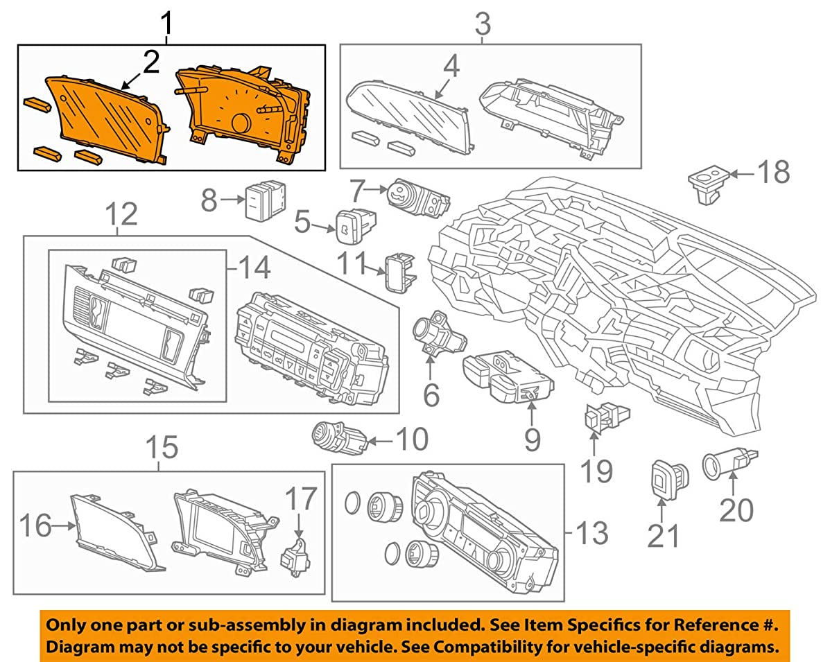 Honda Genuine 78200-TR2-A12 Combination Meter Assembly