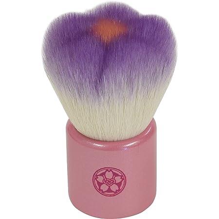 fws-PU 熊野筆 六角館さくら堂 フラワー洗顔ブラシ パープル 山羊毛/PBT混毛