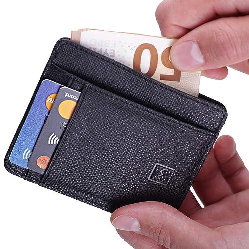 4202ba75ef0537 Credit Card Holder Wallet - RFID Wallet Slim & Safe Minimalist Wallet By  Mercor – Premium