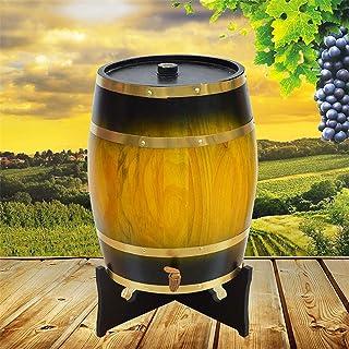 Casiers à vin Dispositif à vin Fûts de chêne verticaux 10L, vin en Bois, tonneaux de vin Blanc Tonneaux décoratifs de vin ...